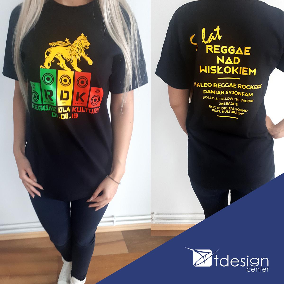 T-shirty damskie oraz męskie - projekt + realizacja