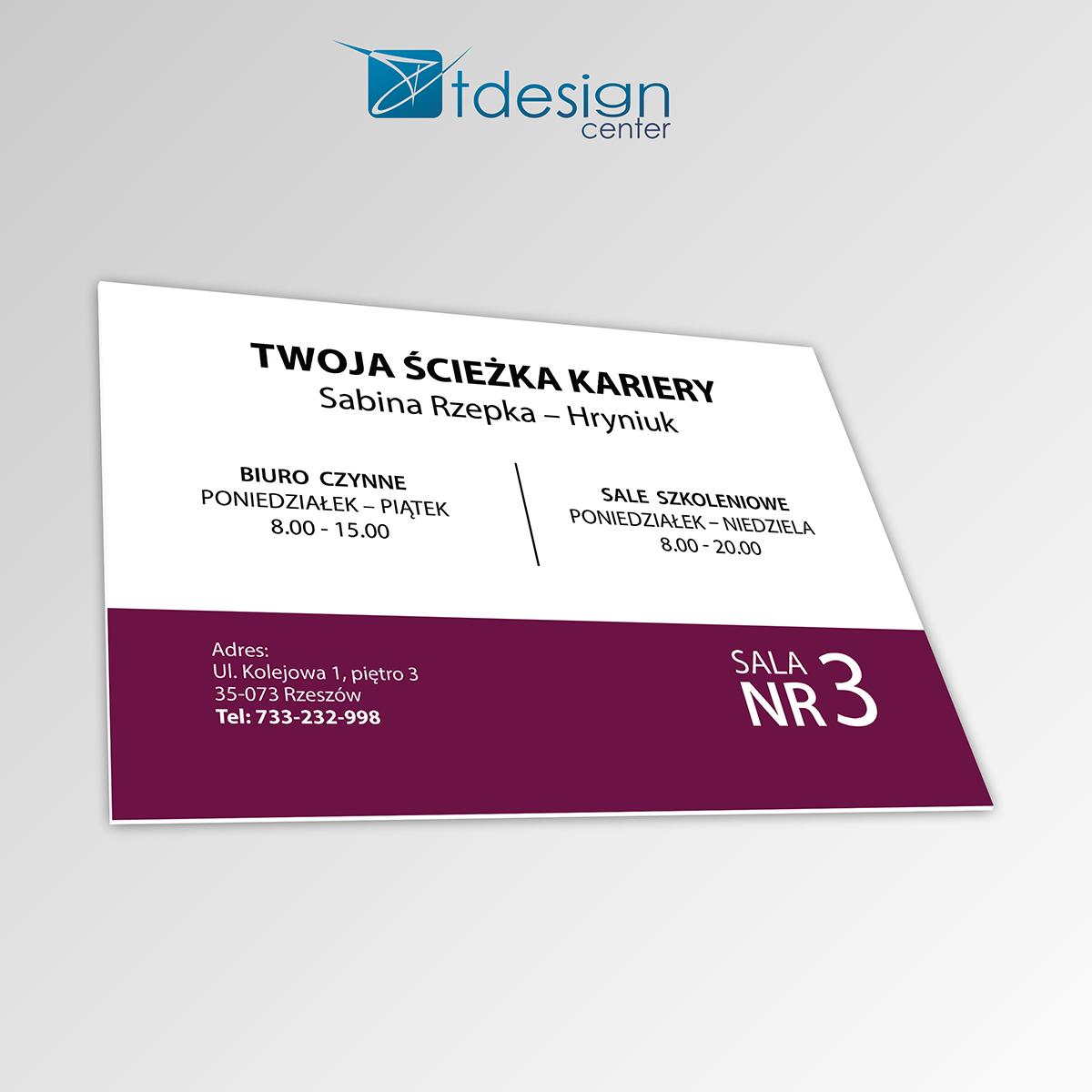 Tablica DIBOND 30x21cm - projekt +realizacja