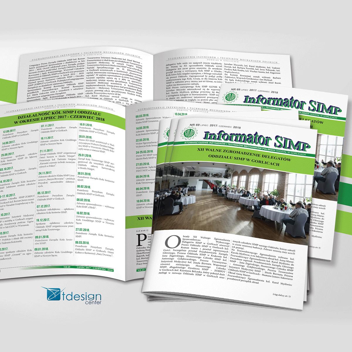 Skład DTP plus druk - katalog SIMP, wydanie numer 69, 12 stron