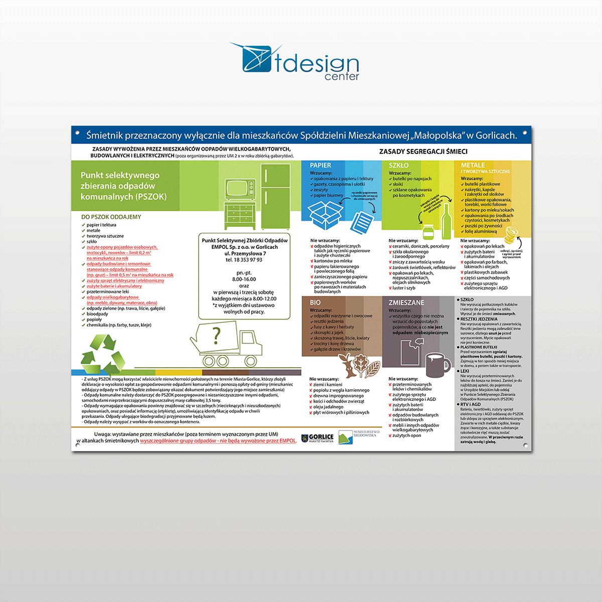 Tablica DIBOND A3, projekt + realizacja dla Spółdzielni Mieszkaniowej