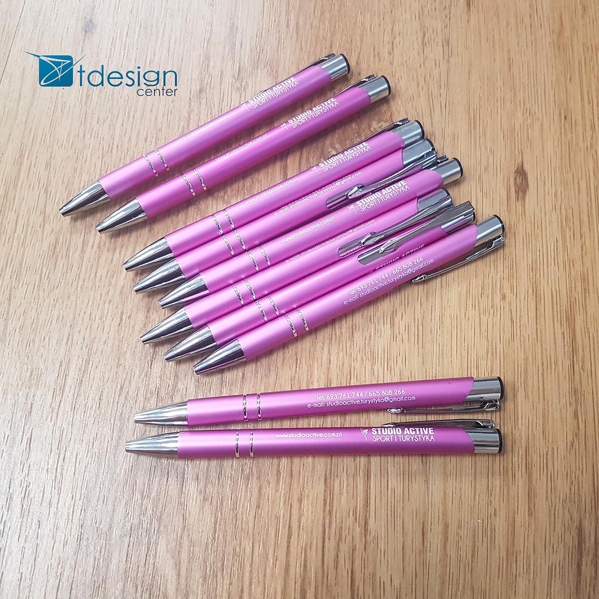 Długopisy firmowe (grawer, nadruk) - projekt + realizacja