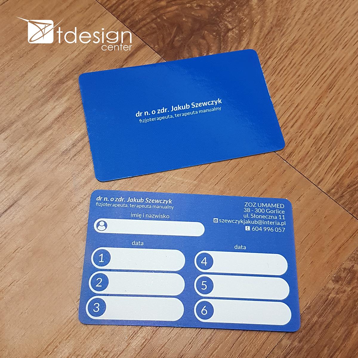 Karta biznesowa 85x54mm - projekt + druk