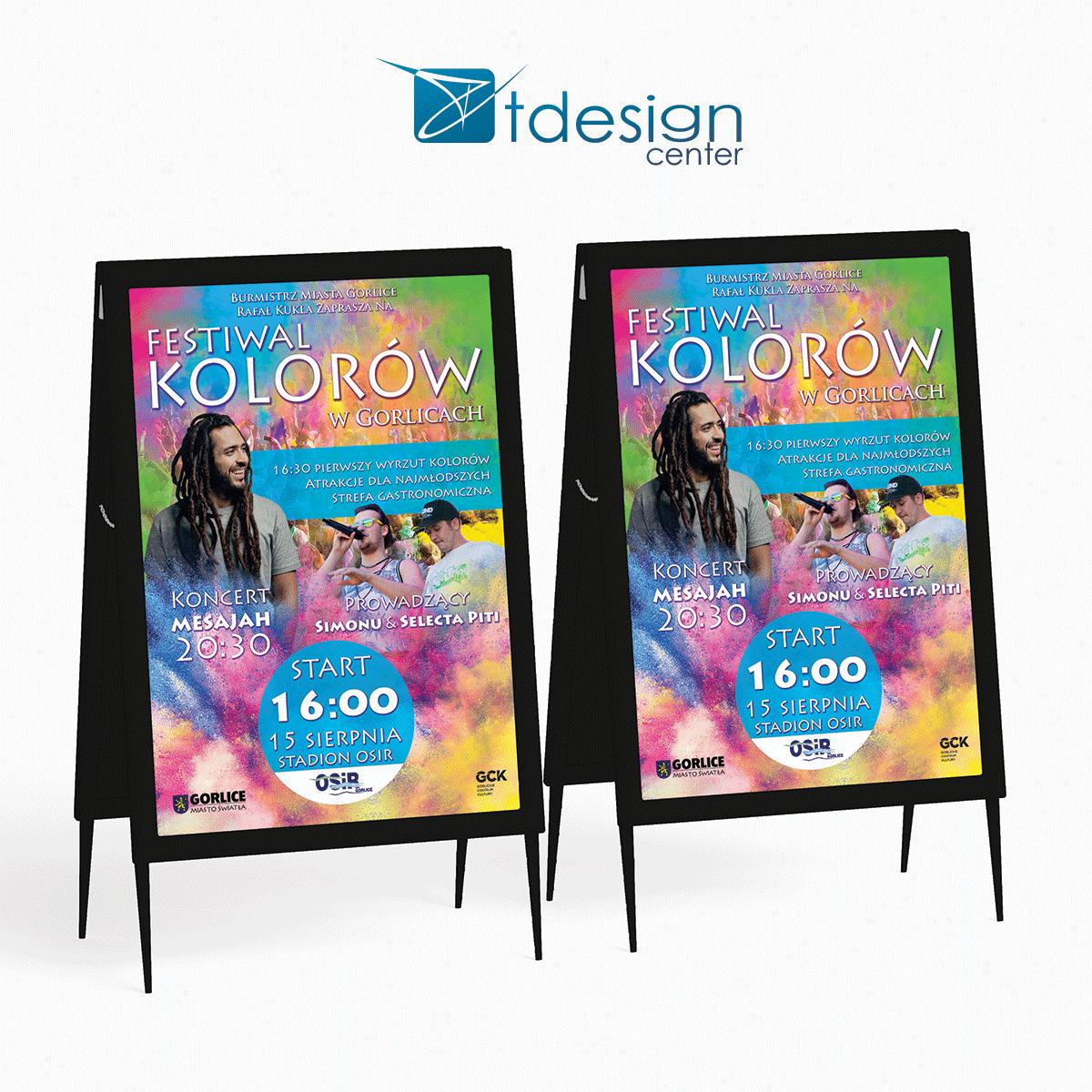 Plakat A2, projekt + druk wykonany dla Urzędu Miasta Gorlice