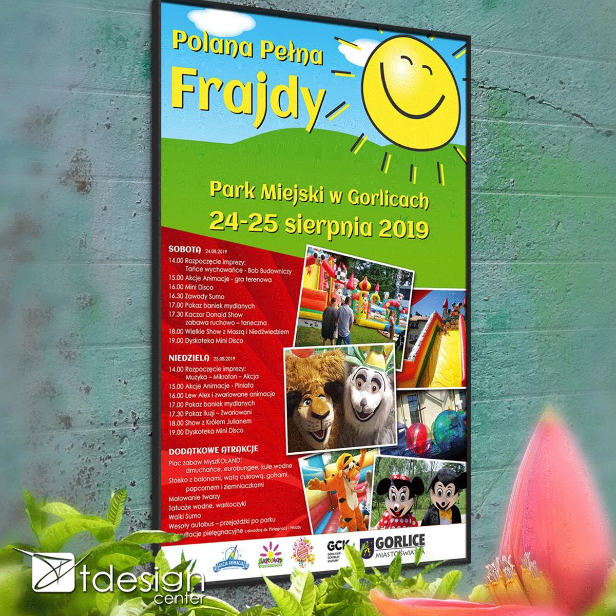 Plakaty A2, projekt + druk, realizacja dla Urzędu Miasta w Gorlicach