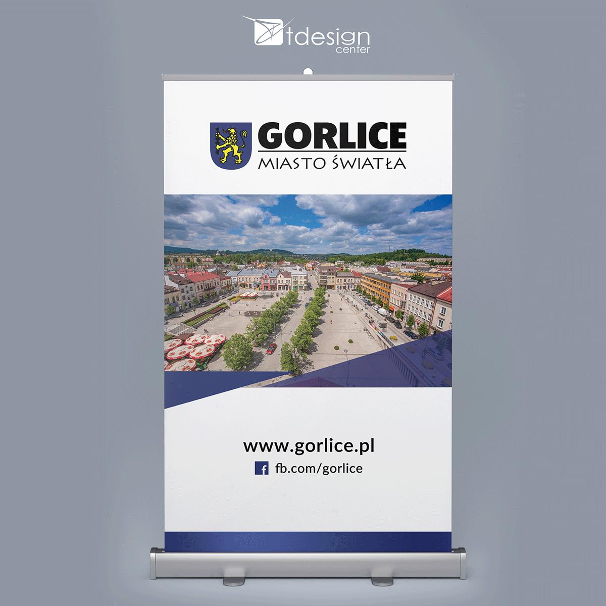 Rollup 120x200cm - projekt + druk, realizacja dla Urzędu Miasta Gorlice