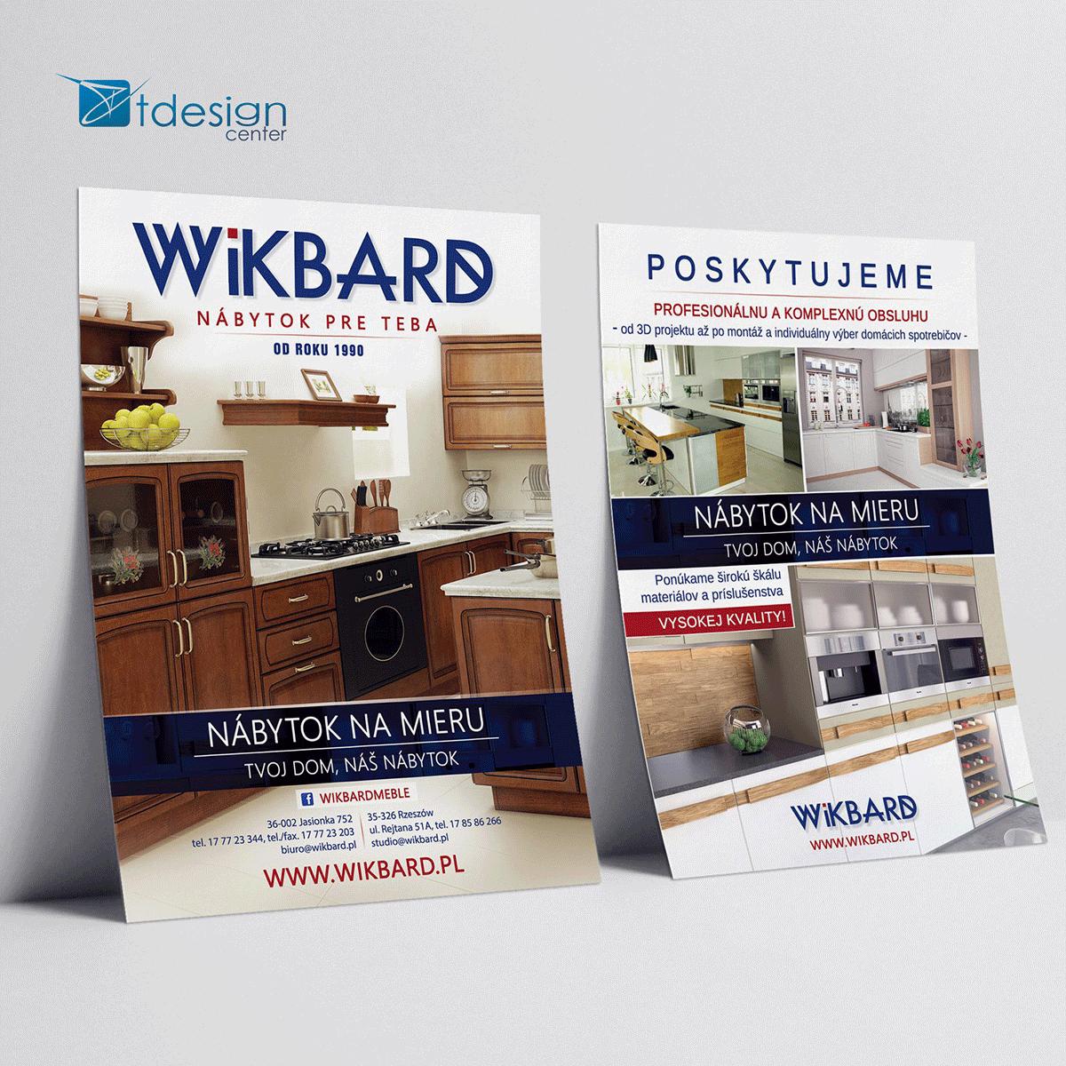 Ulotka A5, projekt + druk, realizacja dla firmy Wikbard
