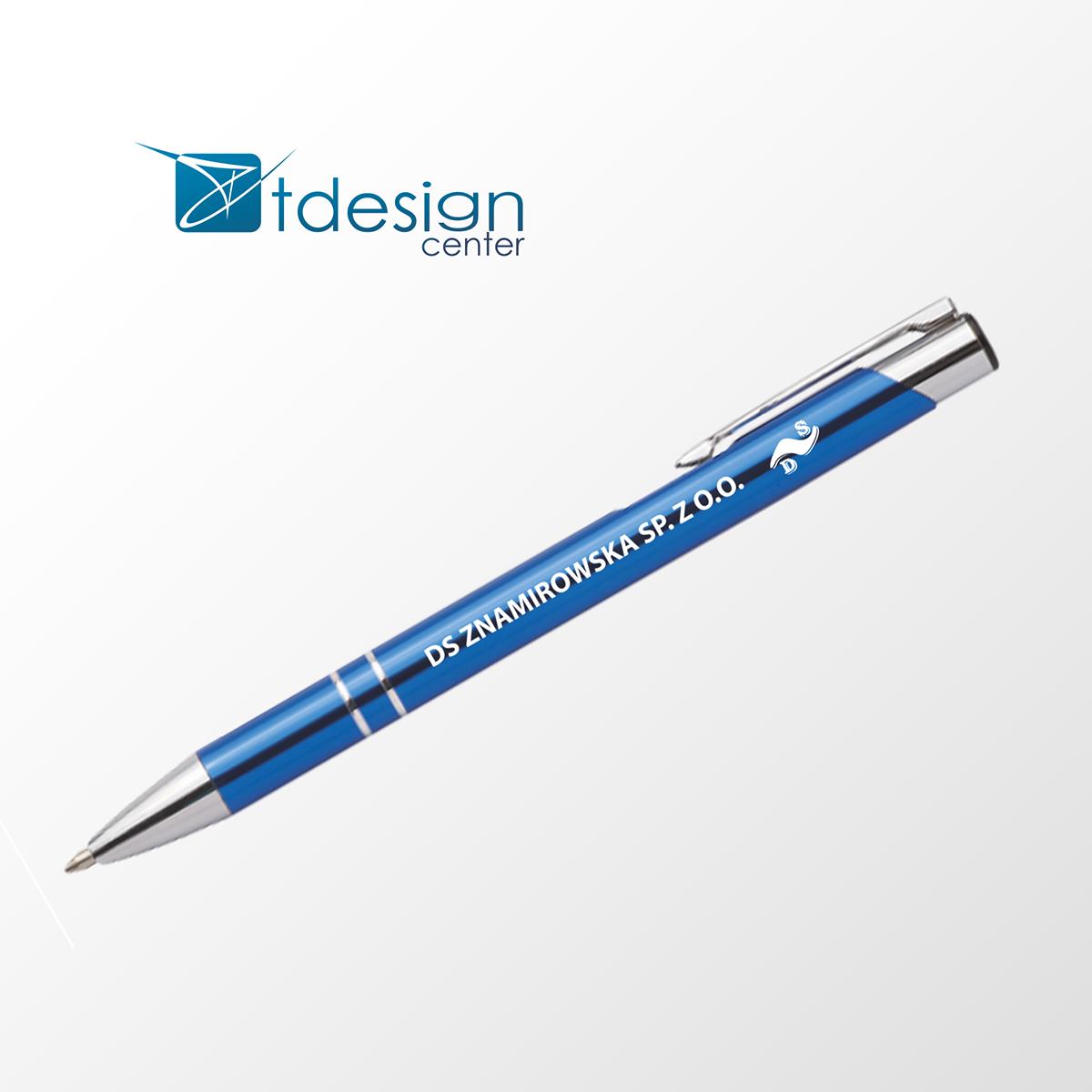 Długopis firmowy /grawer,druk/ - projekt + realizacja